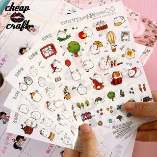 6pcs Molang Planner Sticker Sheet