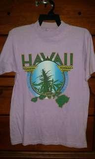 Vintage 80s Hanes Hawaii Hawaiian Islands Weed 420 Tee