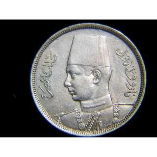 1941年埃及王國(Kingdom of Egypt)埃皇法老克像5米厘鎳幣(二戰時期)