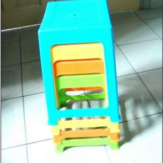 18.25 Inch Plastic Stool (3 colors)