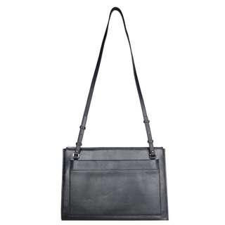Ametrine leather shoulder clutch laptop bag