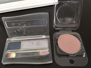 Eyeshadow bundle (slightly used)- The Face Shop Smokey eye palette and Suesh eyeshadow pot in mauve