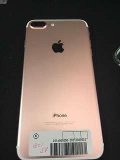 99% new iPhone 7 Plus 128 GB