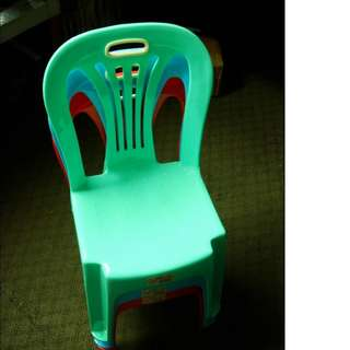 Kid's Plastic Chair (3 Colors- Green/Blue/Red)