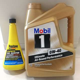 Mobil 1 Gold 0w40(UP $117.60) FREE Preston Synthetic Fuel Injector cleaner c/w Octane Booster Technology (UP $15, USA)!!!