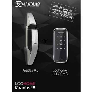 Kaadas K8 + Loghome LH300MG Digital locks Bundle