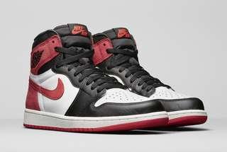 Us8.5 Air Jordan 1 6 Rings Track Red 555088-112