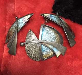 Antique Brooch & Earing