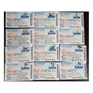 (3A) CAST TRAINING PASSPORT (非賣品) - TOKYO DISNEY 入場劵 12款, $1500 包郵