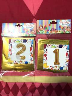 Variety of Birthday Foil Balloon for celebration and party (numbers, happy birthday alphabets, round birthday balloon)