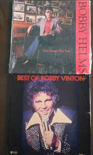 BOBBY HELMS ● BOBBY VINTON. best of / this song's for you. ( buy 1 get 1 free )  Vinyl record