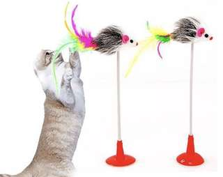 Cat Teaser Toy with bottom suction