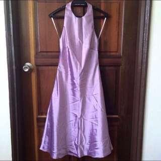 ⭐️ Satin Halter Neck Dress