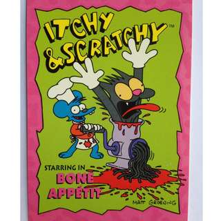 1993 Skybox Simpsons Series 1 Base Card #I1 (Itchy Scratchy #1)