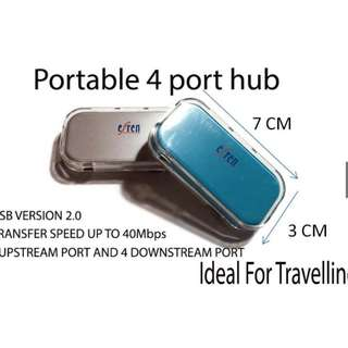 *FREE MAILING*INSTOCKS*Portable and Compact 4-Port USB Hub