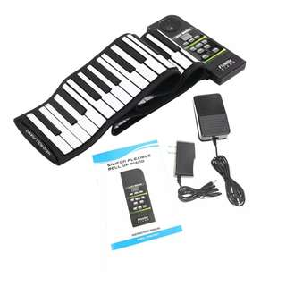 88keys Roll Up Piano w Sustain Pedal
