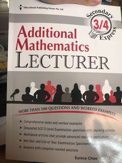 Additional Mathematics Lecturer Book