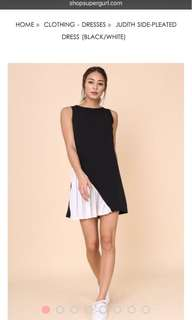 BNWT Supergurl Side Pleated Dress in Black