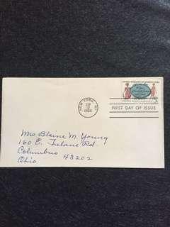 US 1966 Women's Club FDC stamp