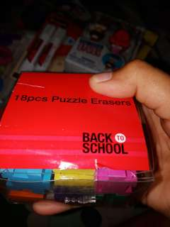 Back to School 18 ct puzzle erasers
