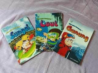 Buku Anak tentang Sungai, Laut, Gunung