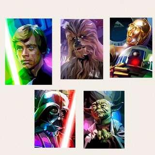 Star Wars 5 Panel HD Print Wall Art