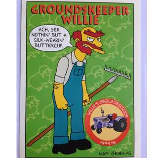 1993 Skybox Simpsons Series 1 Base Card #S22 Groundskeeper Willie