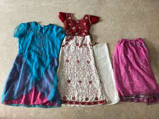 Indian outfits for 7-9 year old
