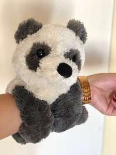 Zookies Panda Bear Plush Toy | Zookiez collection by Toy Target | Stuffed Animal with Patented Paw Design | Snaps Around Crib, Stroller, Chair, Hand
