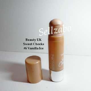 Used Beige Blusher #6 Vanilla Ice Cream Stick Beauty UK Cheeks Sellzabo Makeup Blush Radiant Glow