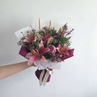 Lilies and Protea Mix