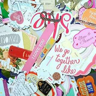 Scrapbook Die cuts & cut out Grab Bag