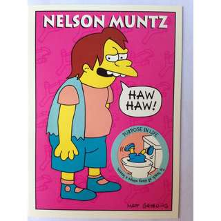 1993 Skybox Simpsons Series 1 Base Card #S15 Nelson Muntz