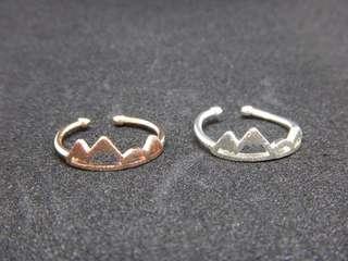 Female mountain Ring silver bronzw