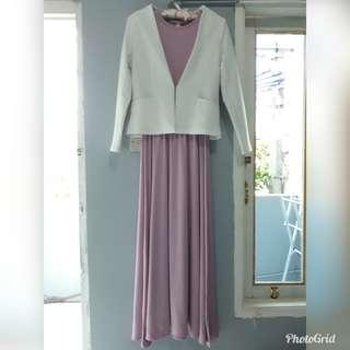 Inner Pink + Blazer Putih Nobby