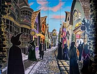 Harry Potter Hogsmeade HD Print Wall Art