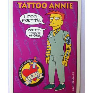 1993 Skybox Simpsons Series 1 Base Card #S11 Tattoo Annie