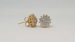 Gold Plated Stud Earings