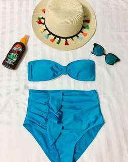 Matched up two piece high waist bikini 👙