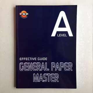 A Level Effective Guide General Paper Master