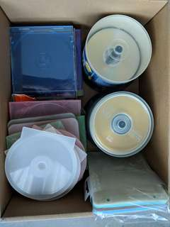 blank cd and sleeves and cases