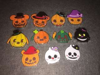 香港迪士尼 徽章 Disney Pin Halloween Tsum Tsum SET