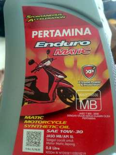 OLI MESIN ENDURO MATIC 4T