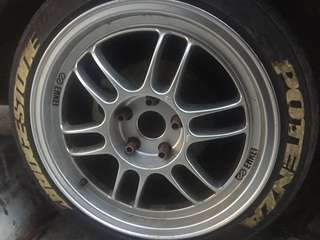 ENKEI RPF1 REPLICA RIMS WITH TYRES 215/45/R17 RE003