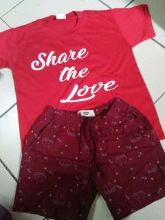 boys tshirt and short for 4-5 yrs old
