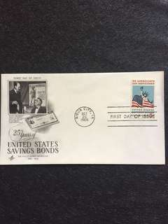 US 1966 Savings Bonds FDC stamp