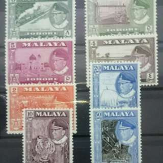 Malaya, Johore 1960 Stamp collection MNH