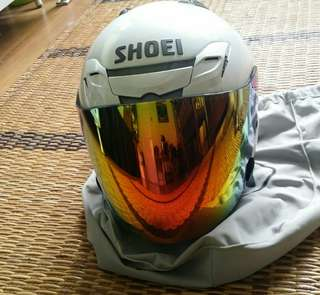 Shoei Jforce 3 White Xl + Mirror Orange Visor