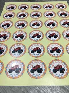 Blaze and the Monster Machines Birthday 30pc Stickers