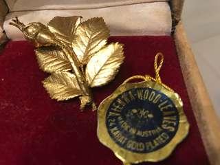 24karat gold plated brooch